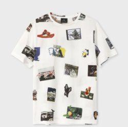 大野智 嵐にしやがれ 3/30 衣装 Paul Smithコラージュフォト プリントTシャツ