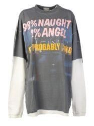 千賀健永 私服 キスラジ VETEMENTS Demna's Favorite LS Naughty Angel