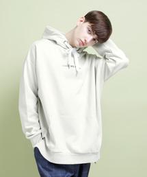 二宮和也 VS嵐 4/11 衣装 EMMA CLOTHES ビックシルエットポンチプルオーバーロゴパーカー