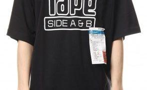 ヒルナンデス 有岡大貴 衣装 Tシャツ CASSETTE TAPE Printed T-shirt Black MIHARAYASUHIRO