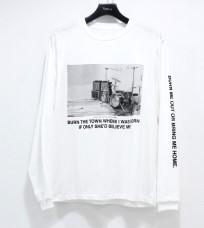 相葉雅紀 嵐にしやがれ 5/25 衣装 JOHN MASON SMITH STUDIO LONG SLEEVE T-SHIRT