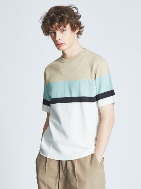 相葉雅紀 嵐にしやがれ 6/8 衣装 ABAHOUSE ミラノリブラインニットTシャツ