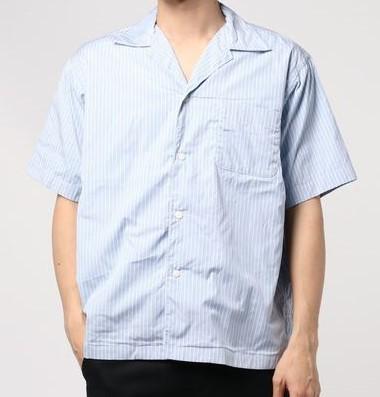 VS嵐 6/27 櫻井翔 衣装 Sanca ストライプ オープンカラーシャツ