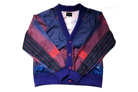 二宮和也 VS嵐 6/13 衣装 elephant TRIBAL fabrics./eS-CHK1913 Check cardigan