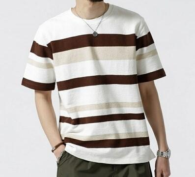 嵐にしやがれ 二宮和也 ニノ 5/25 衣装 nano・universe ジャガードランダムボーダークルーネックTシャツ