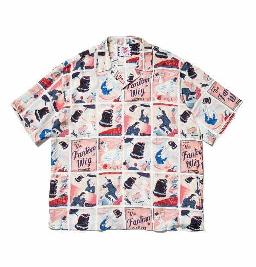 """相葉雅紀 衣装 7/25 アロハシャツ  SON OF THE CHEESE サノバチーズ """"Fantom Wig Shirt"""""""