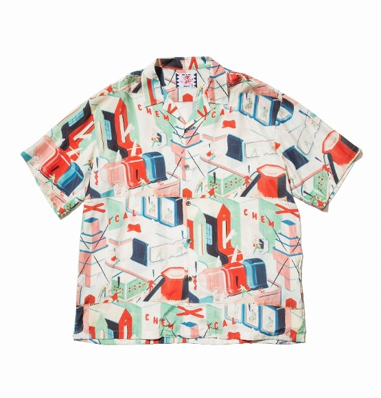 二宮和也 衣装 7/25 アロハシャツSON OF THE CHEESE サノバチーズ Chem factory Shirt CHEMICAL
