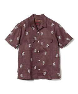 櫻井翔 嵐にしやがれ 8/3 衣装 AL'S ATTIRE × BEAMS PLUS / 別注 ペイズリー オープンカラーシャツ