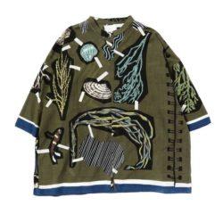 松本潤 嵐にしやがれ 9/28 衣装  mii / MARINE カフタンシャツ
