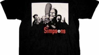 岸優太 私服 庭ラジ The Simpsons Sopranos Mobster Black T-Shirt Tee
