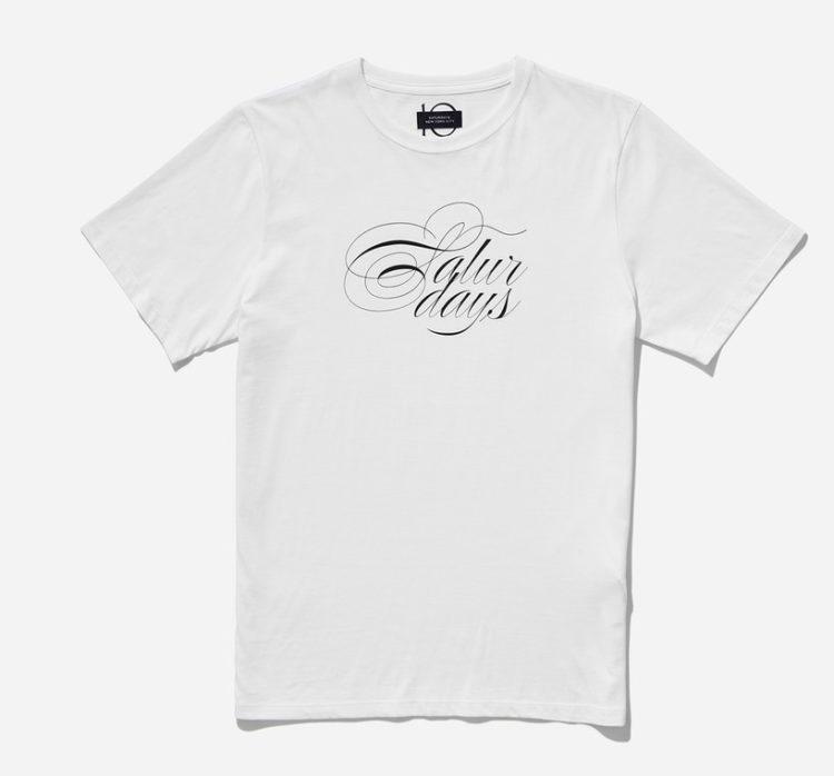 松本潤 VS嵐 9/26 衣装 Saturdays NYC Middle Script T-Shirt, White