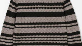 玉森裕太 グランメゾン東京 衣装 BLACK LABEL CRESTBRIDGE バスケットランダムボーダーニット