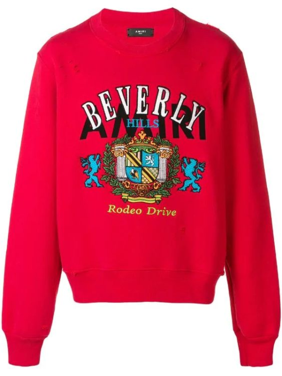 大野智 嵐にしやがれ 12/14 衣装 ビバリーヒルズ スウェット AMIRI Beverly Hills スウェットシャツ