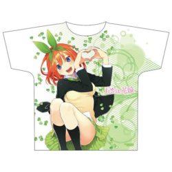 佐久間大介 私服 アニメTシャツ 五等分の花嫁 フルグラフィックTシャツ 中野 四葉