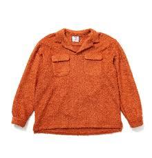 嵐 松本潤 VS嵐 1/23 衣装 オレンジ色 SON OF THE CHEESE BOA FLAP Shirt