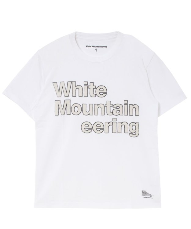 嵐 大野智 VS嵐 衣装 instagram インスタ 【White Mountaineering】ステッチロゴプリントTシャツ