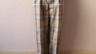 嵐 相葉雅紀 VS嵐 衣装 3/19 チェック柄 パンツ UNITUS(ユナイタス) SS20 Easy Dress Pants (Plaid Check) Brown × Blue