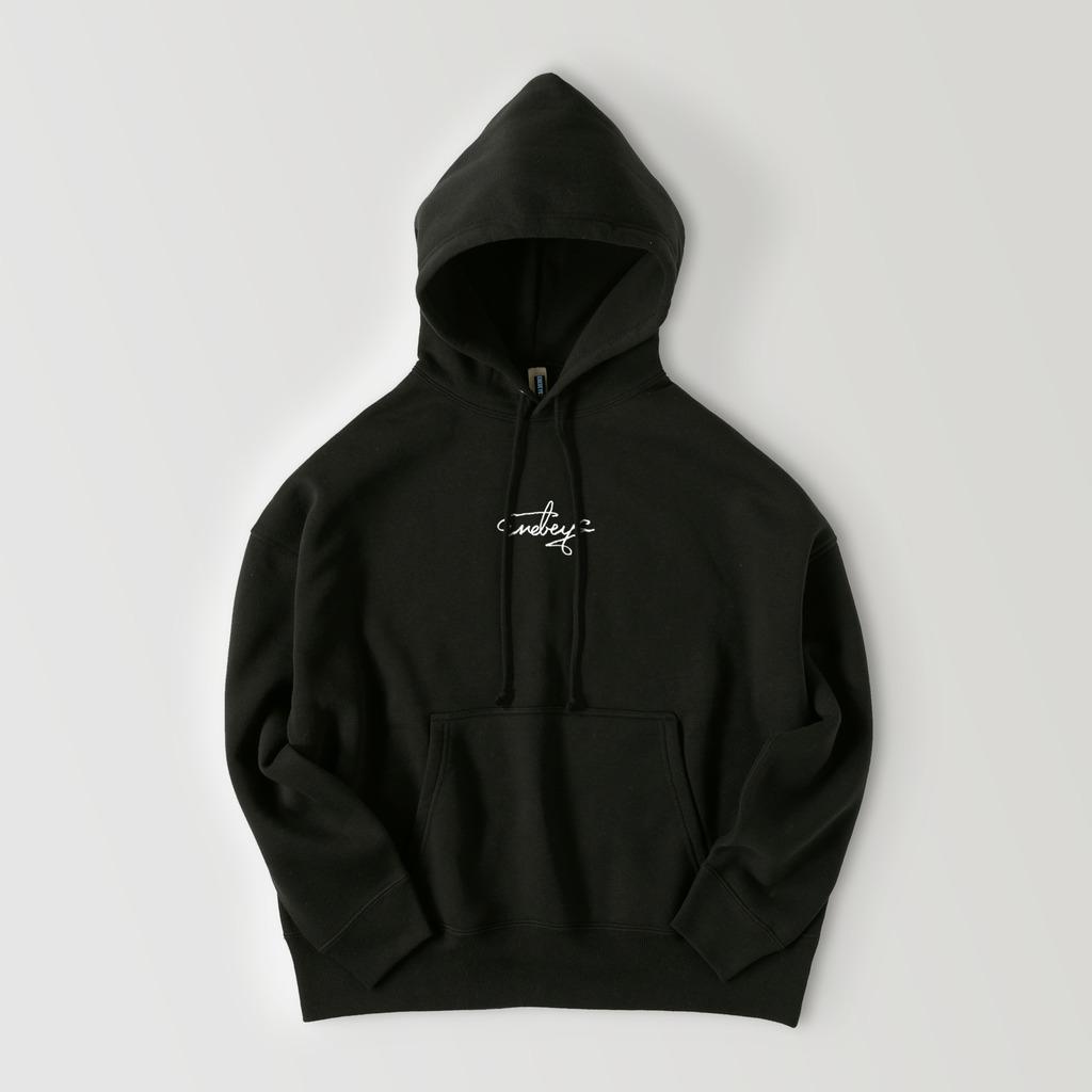 Snow Man 向井康二 私服 パーカー ENEBEYC ビッグシルエットフーディー logo【ブロックロゴ