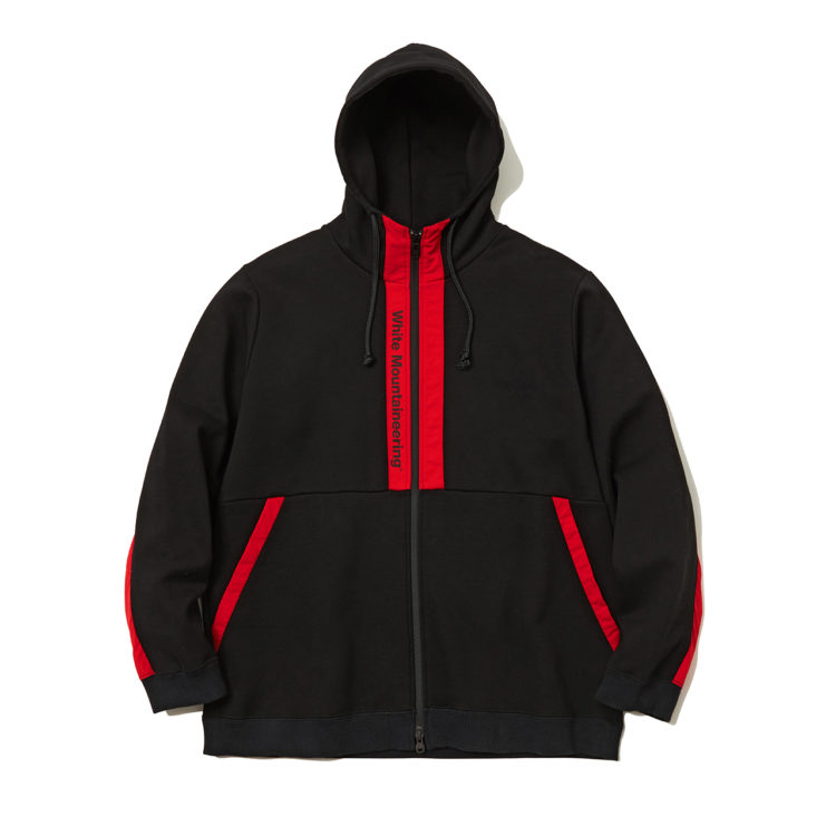 嵐 大野智 VS嵐 4/9 衣装 White Moutaineering LOGO PRINTED CONTRASTED ZIP UP HOODIE -BLACK