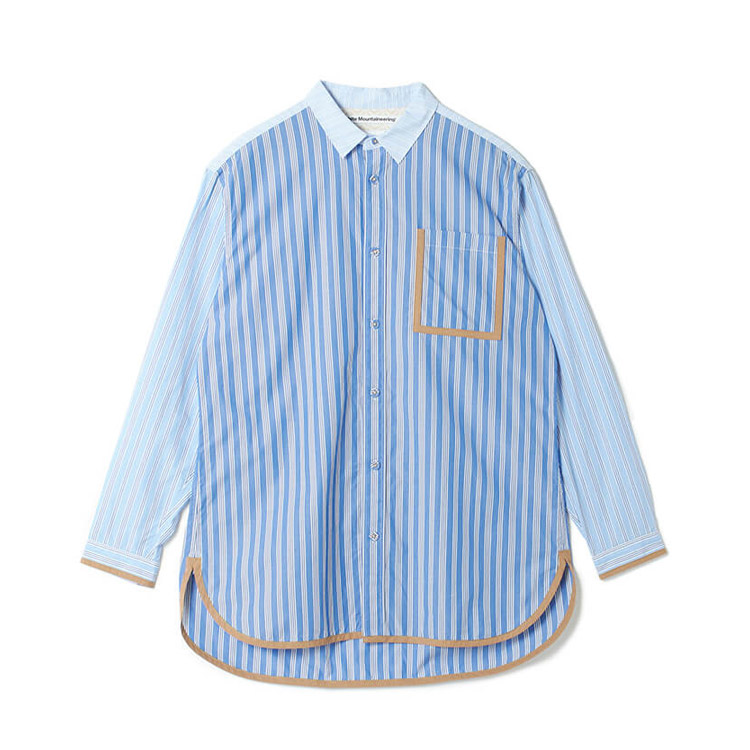 嵐 大野智 VS嵐 4/30 衣装 White Mountaineering STRIPED BIG SHIRT