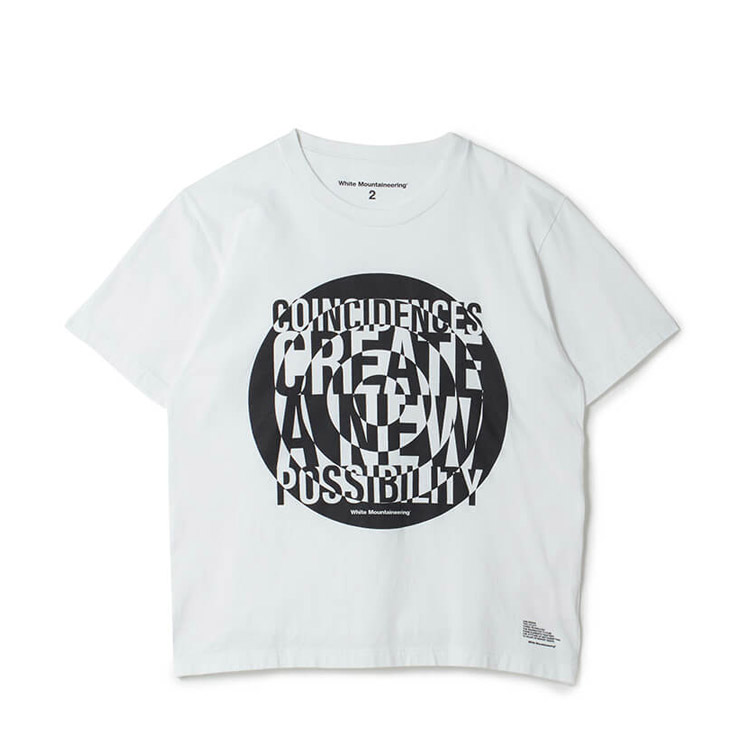 嵐 大野智 衣装 VS嵐 4/9 White Mountaineering PRINTED T-SHIRT 'CIRCLE'