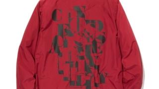 嵐 松本潤 VS嵐 4/9 衣装 White Mountaineering PRINTED COACH JACKET -BURGUNDY