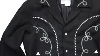 嵐 大野智 嵐にしやがれ 4/11 衣装 ジャケット H BAR C ギャバジン・ブラック ジャケット