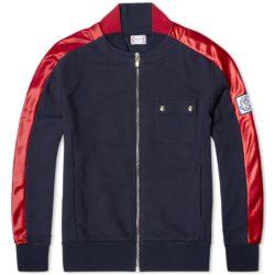 嵐 櫻井翔 私服 モンクレール ブルゾン スタジャン  Moncler Gamme Bleu Nylon Hem Jersey Bomber Jacket