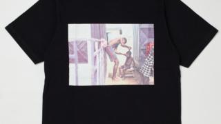 """嵐 櫻井翔 私服 NETFLIX Voyage Lunch T-shirts PHOTO """"Garden Barber"""" BLACK Tシャツ"""