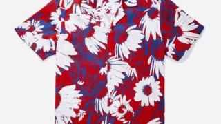 VS嵐 松本潤 6/25 7/2 衣装 Saturdays NYC Canty Daisy Print Short Sleeve Shirt Chili Red デイジー 花柄 シャツ