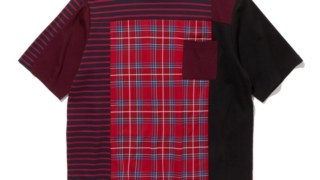 VS嵐 大野智  6/25 7/2 衣装 White mountaineering CHECK CONTRASTED T-SHIRT チェック柄 Tシャツ
