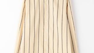 嵐にしやがれ 大野智 衣装 7/4 1/23 TOMORROWLAND MEN コットンシェニール セミワイドカラーシャツ
