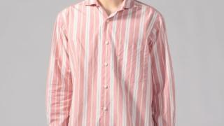 嵐にしやがれ 櫻井翔 衣装 7/4 1/23 TOMORROWLAND MEN コットンストライプ ホリゾンタルカラーシャツ