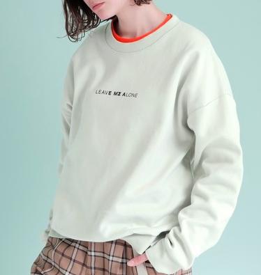 VS嵐 二宮和也 7/9 衣装 EMMA CLOTHES ビッグシルエットポンチプルオーバーロゴスウェット(LEAVE MΣ ALONE)