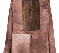 相葉雅紀 嵐 IN THE SUMMER 衣装 View fullscreen Ziggy Chen Men's Brown Pleated Bib Shirt シャツ
