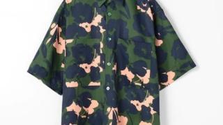 相葉雅紀 嵐にしやがれ 8/8 衣装 シャツ 隠れ家嵐 TOMORROWLAND フラワープリント ショートスリーブビッグシャツ