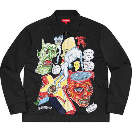 藤ヶ谷太輔 キスマイ Aスタ Astudio Aスタジオ 衣装 8/21 SUPREME Daniel Johnston Embroidered Work Jacket