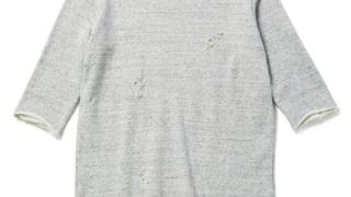 大野智 VS嵐 8/13 衣装 CHORD NUMBER EIGHT 7分袖クラッシュスウェット 3/4 SLEEVE CRASH SWEAT スウェット 乳首 穴あき