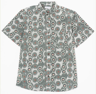 大野智  嵐にしやがれ 8/1 衣装 デスマッチ 渡辺直美 RAGA MAN MR111-33GT ショートスリーブシャツ