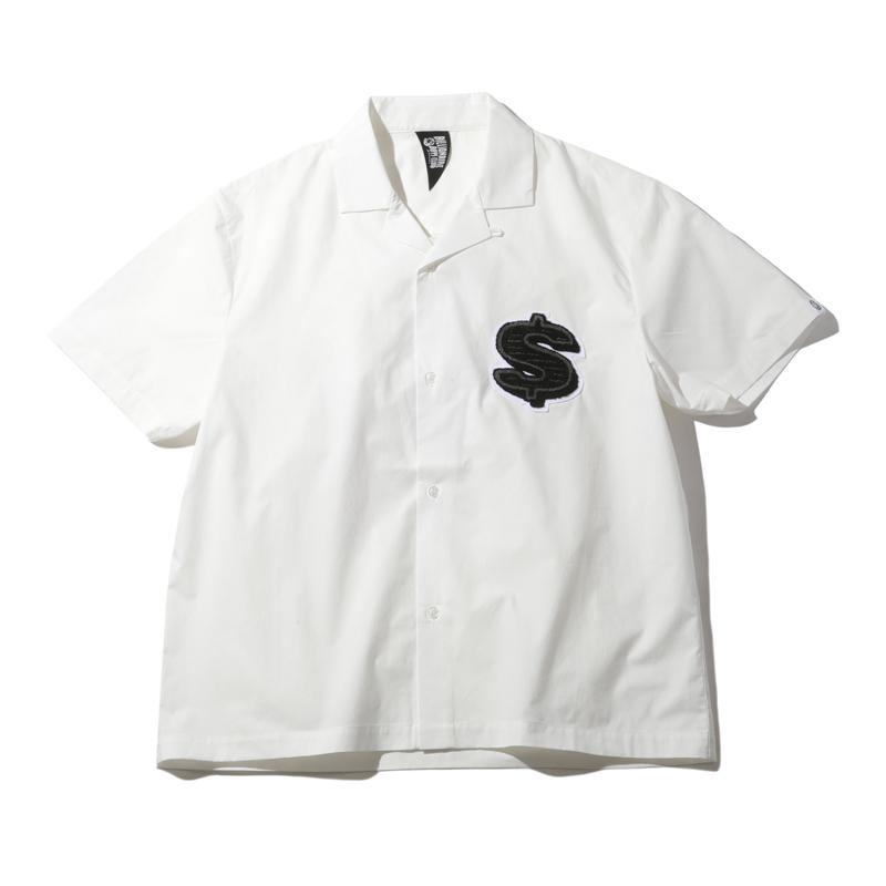 相葉雅紀 嵐 VS嵐 潤 誕生日 衣装 BILLIONAIRE BOYS CLUB CHENILL PATCH DOLLAR S/S OPEN COLLAR SHIRT  シャツ ドルマーク