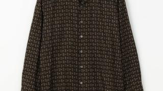 松本潤 嵐にしやがれ 9/19 衣装 デスマッチ シャツ TOMORROWLAND MENS ビットプリント オープンカラーシャツ