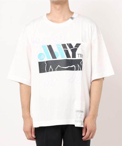 大野智 VS嵐 9/17 衣装 MAISON MIHARA YASUHIRO ミハラヤスヒロ カリブープリンテッドティーシャツ/Caribou printed T-shirt