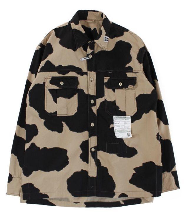 櫻井翔 VS嵐 9/17 衣装 MAISON MIHARAYASUHIRO Holstein Print Work Shirts
