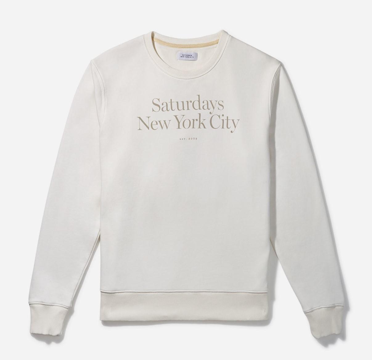 大野智 VS嵐 9/17 衣装 スウェット Saturdays NYC Bowery Miller Standard Crew Ivory