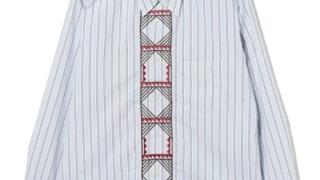 櫻井翔 嵐にしやがれ 9/19 衣装 BEAMS LIGHTS / トゥアレグ刺繍 ドロップネックシャツ