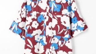 ジェシー 夜会フェス 9/10 衣装 シャツ TOMORROWLAND MENS フラワープリント ショートスリーブビッグシャツ
