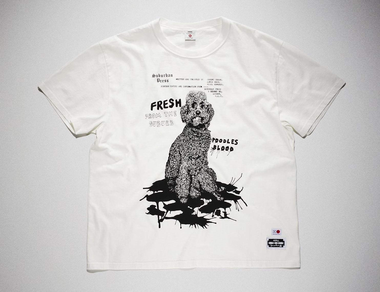 二宮和也 VS嵐 9/24 衣装 プードル Tシャツ EDWIN × KIDILL × Jamie Reid Poodles Blood Print T Shirts