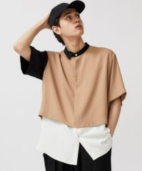 吉澤閑也 Travis Japan 私服 CULLNI LAYERED ASYMMETRY S/S SH シャツ