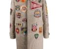 ジェシー モニタリング 衣装 11/19 コート ロゴ パッチワーク コート