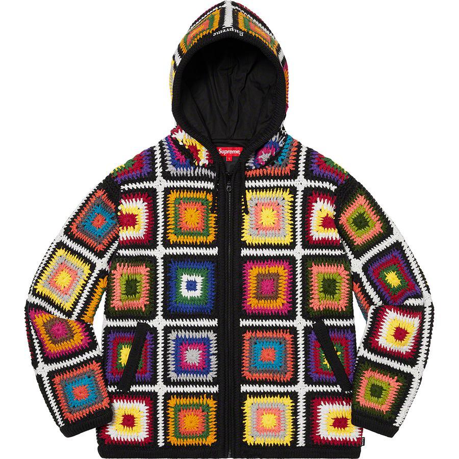 藤ヶ谷太輔 A-studio+ 11/8 衣装  Supreme クロシェニット パーカー Crochet Hooded Zip Up Sweater